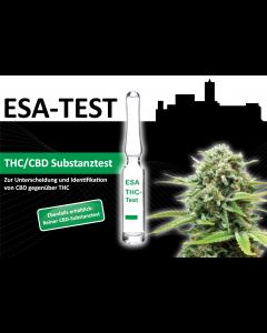 ESA Substanztest Unterscheidung  und Identifikation von THC und CBD