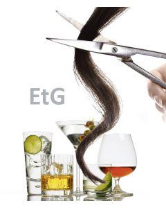 Prueba de alcohol en cabello etg del laboratorio Forensis