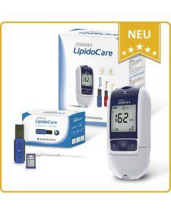 LipidoCare Cholesterin Messgerät Lipid Profil inklusive 5 Meßstreifen